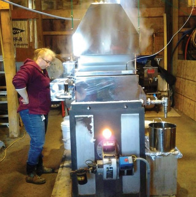 ean Huber running the evaporator