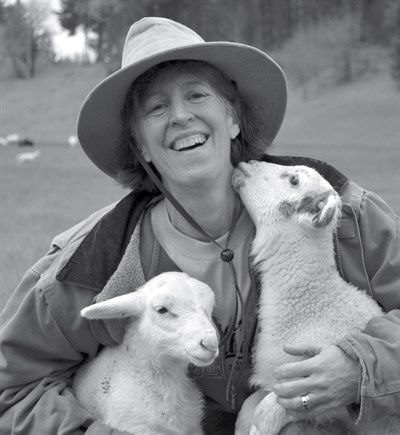 Scottie Jones-with-lambs