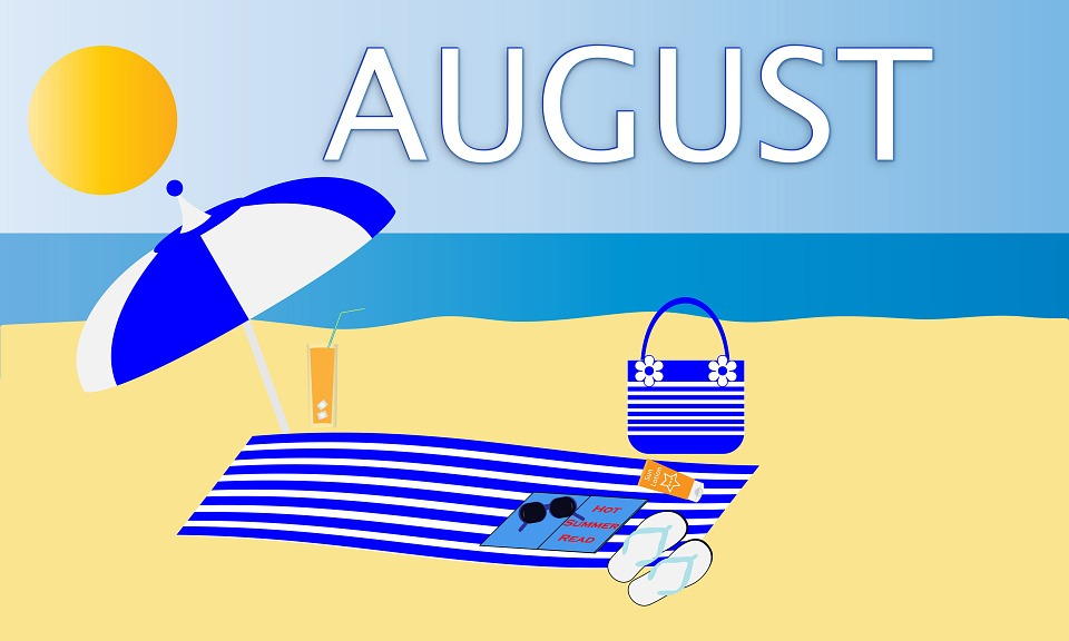 illustration-of-a-beach-with-august-written