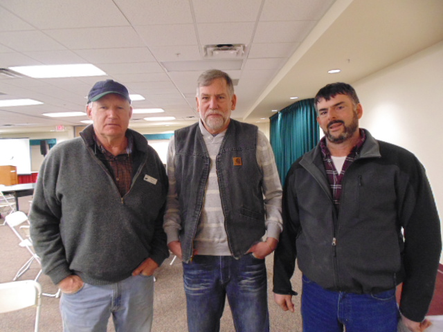 Bill Emmons, owner of Mountain Meadows Farm, Chip Morgan of VBPA and Brian Kemp, manager of Mountain Meadows
