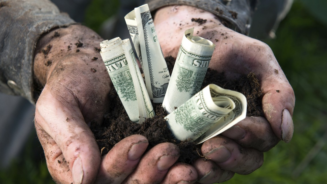 hand-holding-out-dollar-notes-and-soil