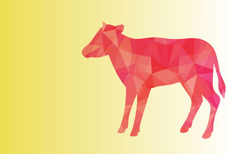 illustration-of-a-red-cow