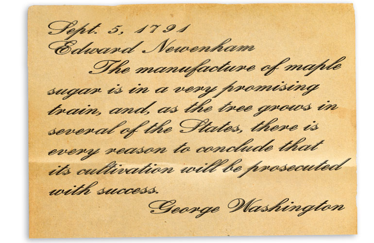 note from george washington